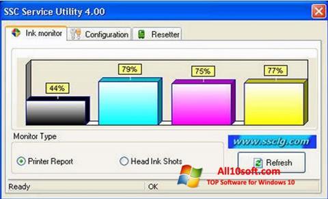 لقطة شاشة SSC Service Utility لنظام التشغيل Windows 10