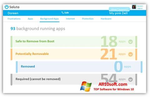 لقطة شاشة Soluto لنظام التشغيل Windows 10