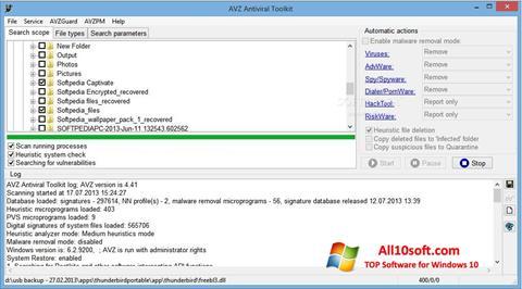 لقطة شاشة AVZ لنظام التشغيل Windows 10