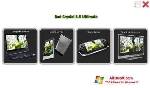 لقطة شاشة Bad Crystal لنظام التشغيل Windows 10