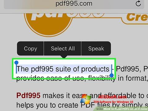 لقطة شاشة Pdf995 لنظام التشغيل Windows 10