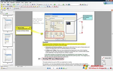 لقطة شاشة PDF-XChange Viewer لنظام التشغيل Windows 10
