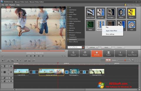 لقطة شاشة Movavi Video Suite لنظام التشغيل Windows 10