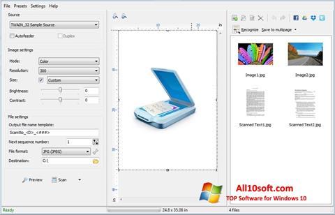 لقطة شاشة WinScan2PDF لنظام التشغيل Windows 10