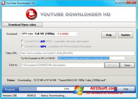 لقطة شاشة Youtube Downloader HD لنظام التشغيل Windows 10