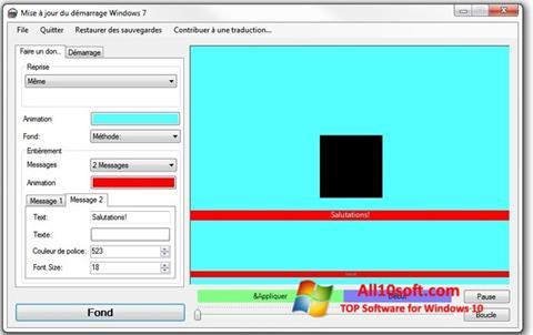 لقطة شاشة Boot Updater لنظام التشغيل Windows 10