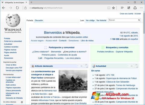 لقطة شاشة Microsoft Edge لنظام التشغيل Windows 10