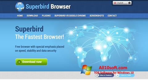 لقطة شاشة Superbird لنظام التشغيل Windows 10