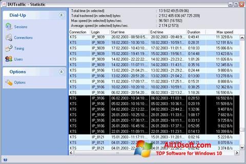 لقطة شاشة DUTraffic لنظام التشغيل Windows 10