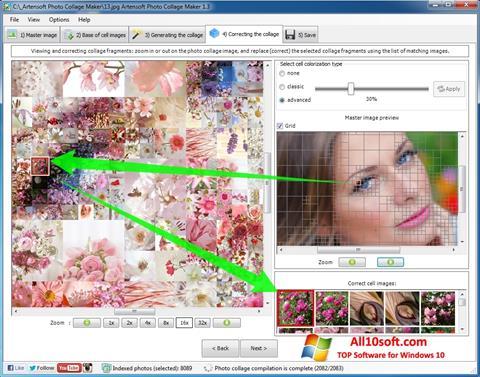 لقطة شاشة Photo Collage Maker لنظام التشغيل Windows 10