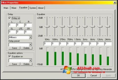 لقطة شاشة AC3 Codec لنظام التشغيل Windows 10