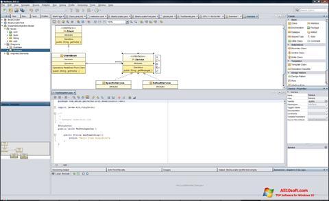 لقطة شاشة NetBeans لنظام التشغيل Windows 10