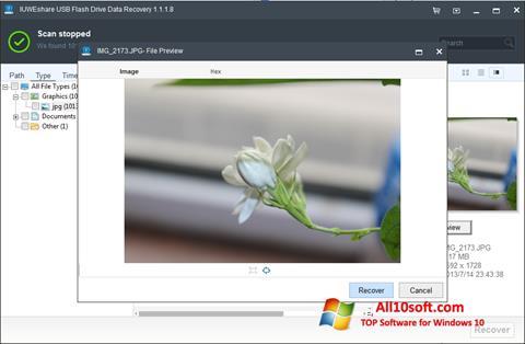 لقطة شاشة USB Flash Drive Recovery لنظام التشغيل Windows 10