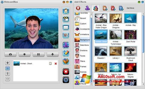 لقطة شاشة WebcamMax لنظام التشغيل Windows 10