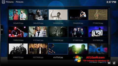 لقطة شاشة Kodi لنظام التشغيل Windows 10
