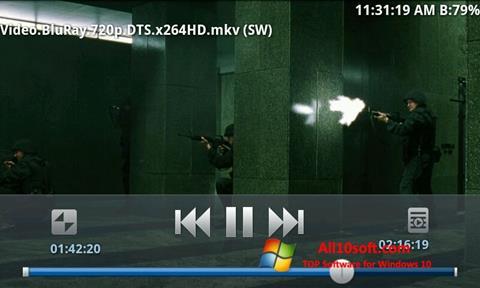 لقطة شاشة BSPlayer لنظام التشغيل Windows 10