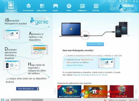 لقطة شاشة Mobogenie لنظام التشغيل Windows 10