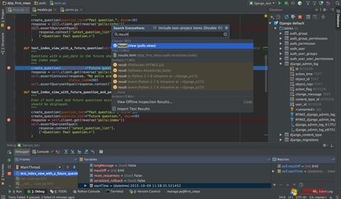 لقطة شاشة PyCharm لنظام التشغيل Windows 10