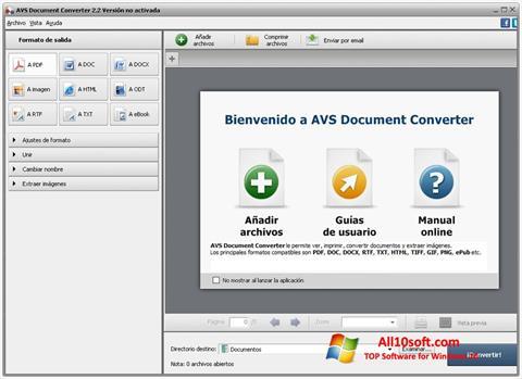 لقطة شاشة AVS Document Converter لنظام التشغيل Windows 10