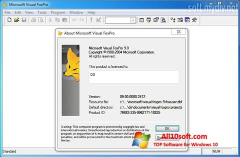 لقطة شاشة Microsoft Visual FoxPro لنظام التشغيل Windows 10