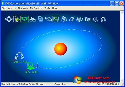 لقطة شاشة BlueSoleil لنظام التشغيل Windows 10