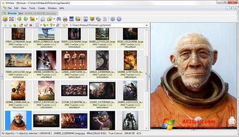 لقطة شاشة XnView لنظام التشغيل Windows 10