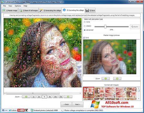 لقطة شاشة Photo Collage لنظام التشغيل Windows 10