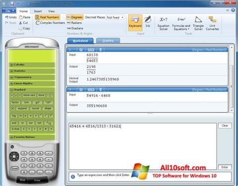 لقطة شاشة Microsoft Mathematics لنظام التشغيل Windows 10