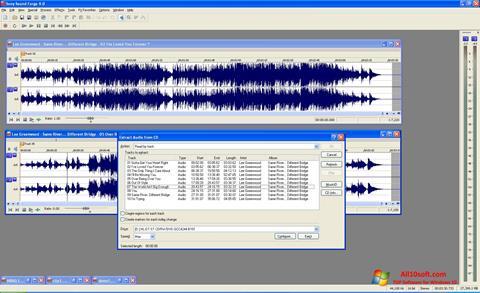 لقطة شاشة Sound Forge لنظام التشغيل Windows 10