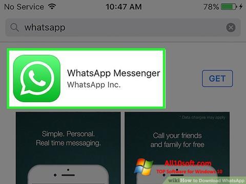 لقطة شاشة WhatsApp لنظام التشغيل Windows 10