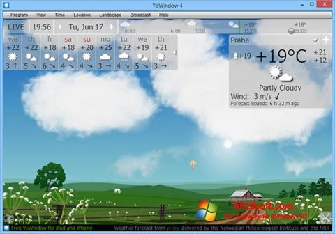 لقطة شاشة YoWindow لنظام التشغيل Windows 10