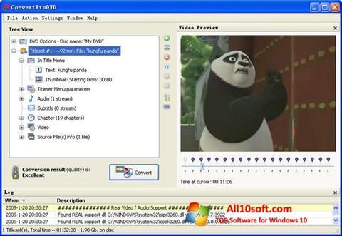لقطة شاشة ConvertXToDVD لنظام التشغيل Windows 10