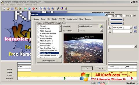 لقطة شاشة KaraFun لنظام التشغيل Windows 10