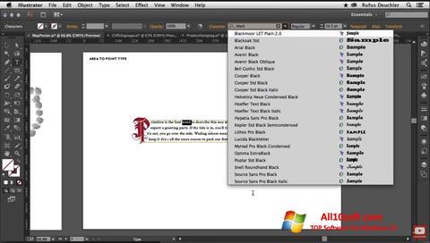 لقطة شاشة Adobe Illustrator لنظام التشغيل Windows 10