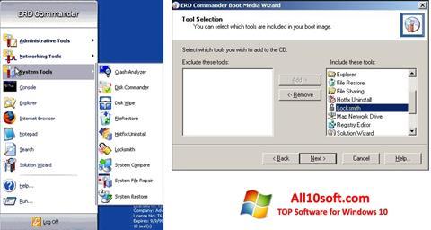 لقطة شاشة ERD Commander لنظام التشغيل Windows 10