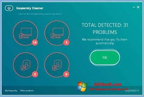 لقطة شاشة Kaspersky Cleaner لنظام التشغيل Windows 10