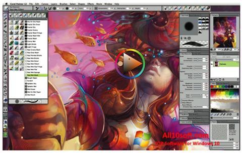 لقطة شاشة Corel Painter لنظام التشغيل Windows 10