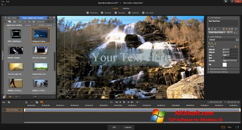 لقطة شاشة Pinnacle Studio لنظام التشغيل Windows 10