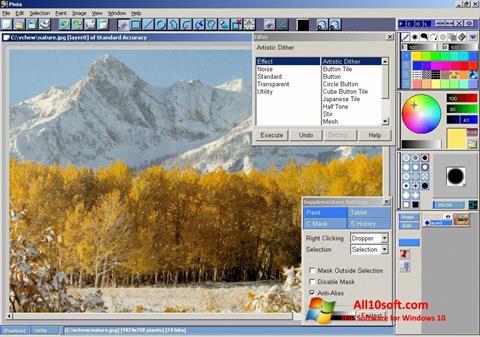 لقطة شاشة Pixia لنظام التشغيل Windows 10