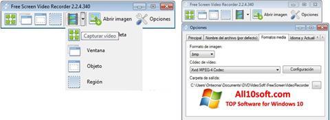 لقطة شاشة Free Screen Video Recorder لنظام التشغيل Windows 10