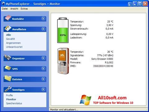 لقطة شاشة MyPhoneExplorer لنظام التشغيل Windows 10