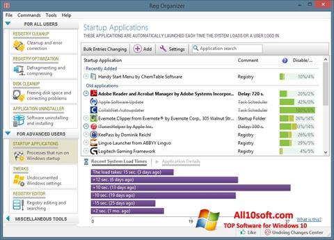 لقطة شاشة Reg Organizer لنظام التشغيل Windows 10