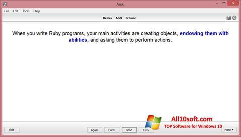 لقطة شاشة Anki لنظام التشغيل Windows 10