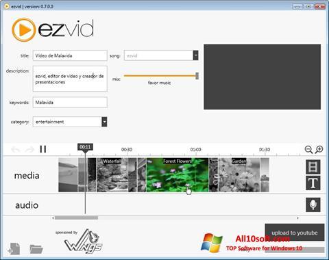 لقطة شاشة Ezvid لنظام التشغيل Windows 10
