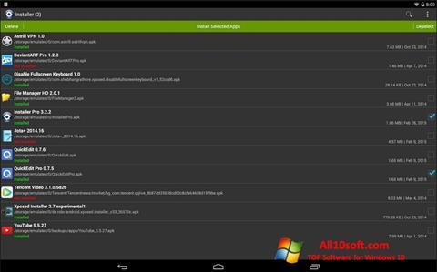 لقطة شاشة InstAllAPK لنظام التشغيل Windows 10