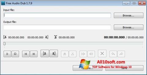 لقطة شاشة Free Audio Dub لنظام التشغيل Windows 10