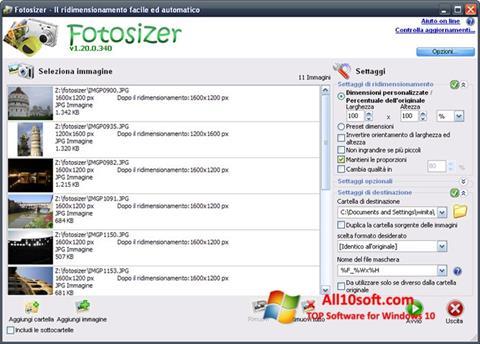 لقطة شاشة Fotosizer لنظام التشغيل Windows 10