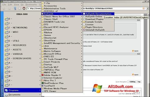 لقطة شاشة AviSynth لنظام التشغيل Windows 10