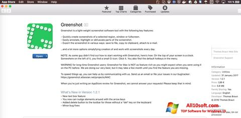 لقطة شاشة Greenshot لنظام التشغيل Windows 10
