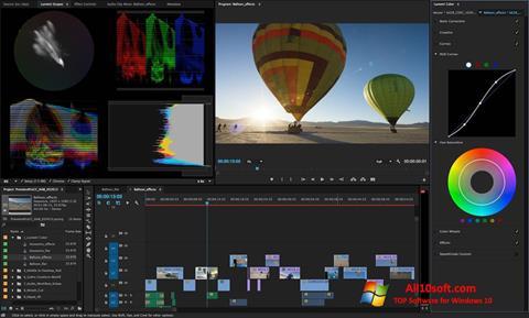 لقطة شاشة Adobe Premiere Pro CC لنظام التشغيل Windows 10